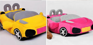 pug swag sports car pug bed in pink, yellow or orange