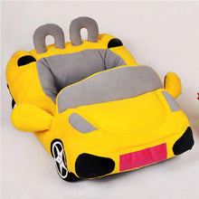 Load image into Gallery viewer, pug swag sports car pug bed in yellow