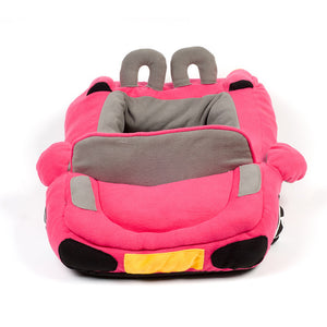 pug swag sports car pug bed in pink,