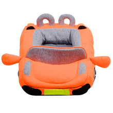Load image into Gallery viewer, pug swag sports car pug bed in orange