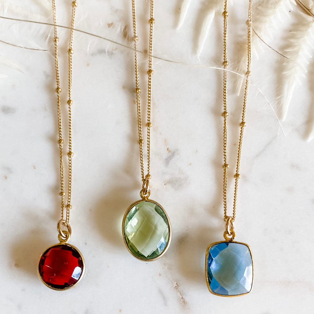 Gemstone Necklace, Satellite Chain