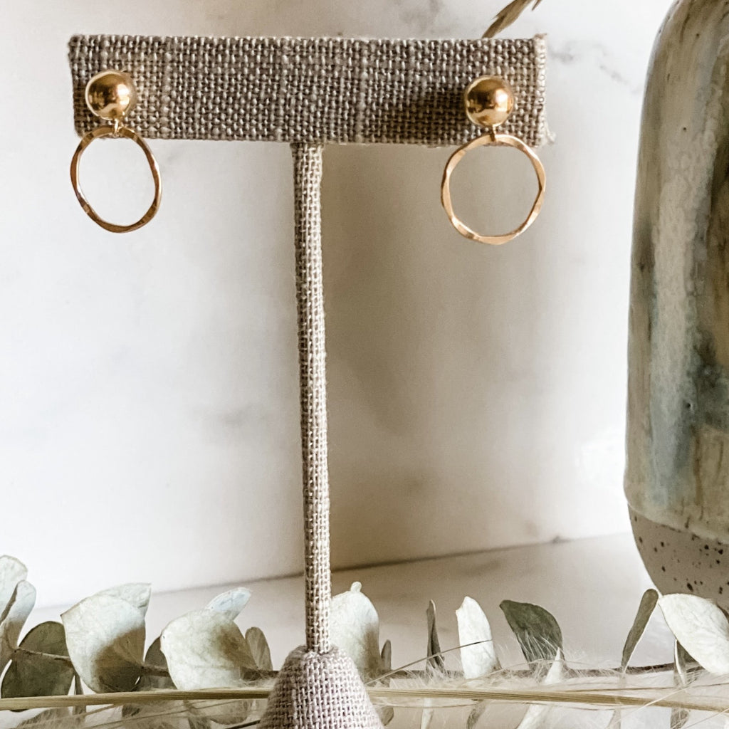 Gold Studs Hoops
