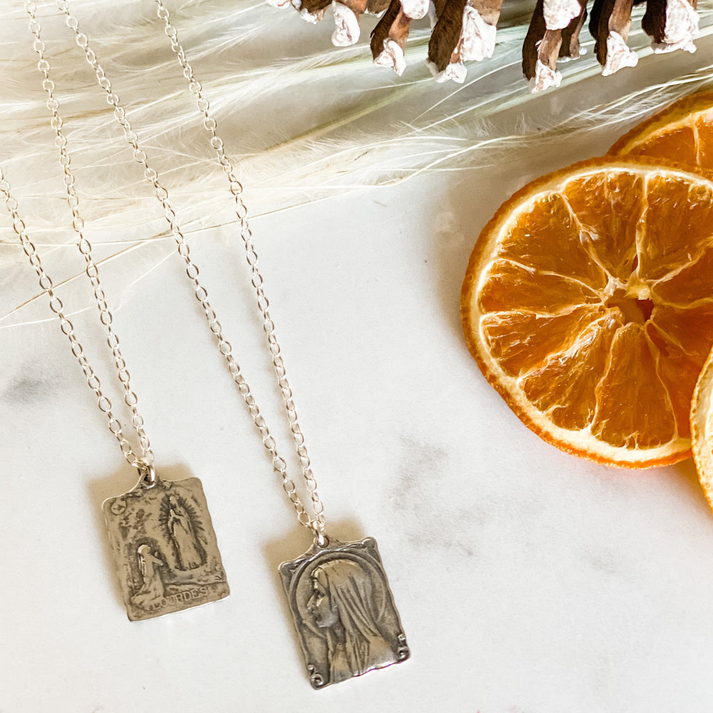 Mary Religious Charm Necklace