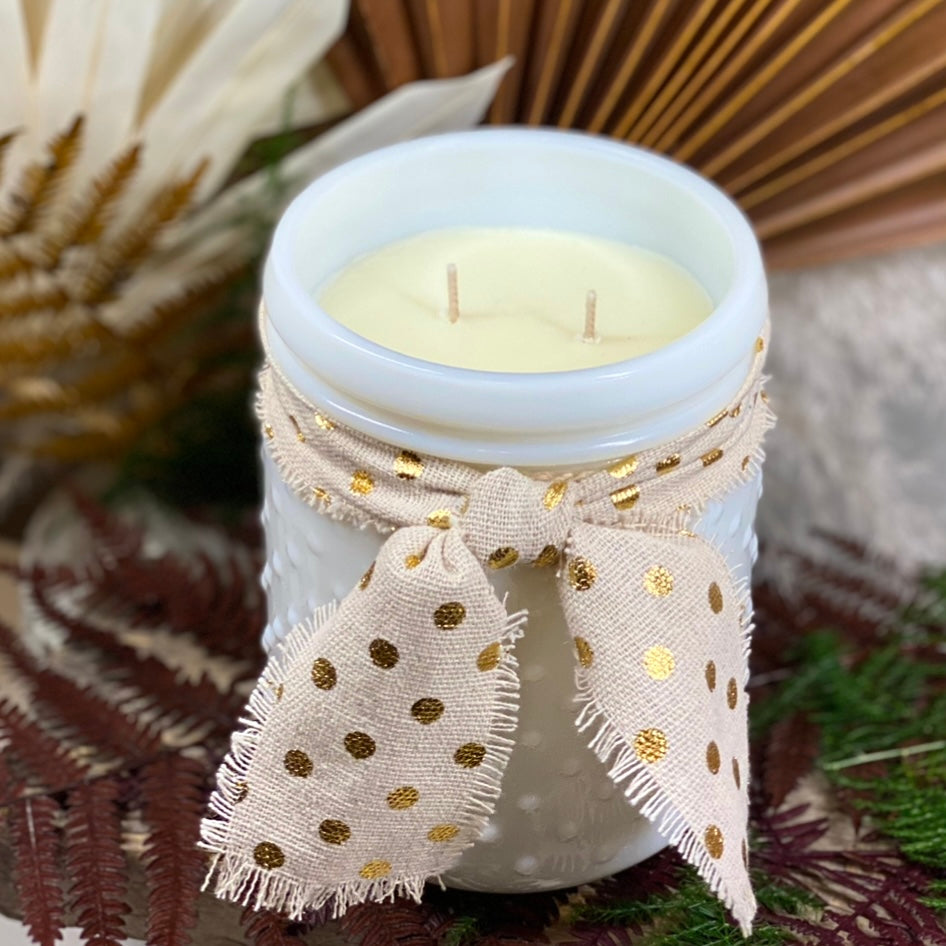Volcano, Hobnail Candle