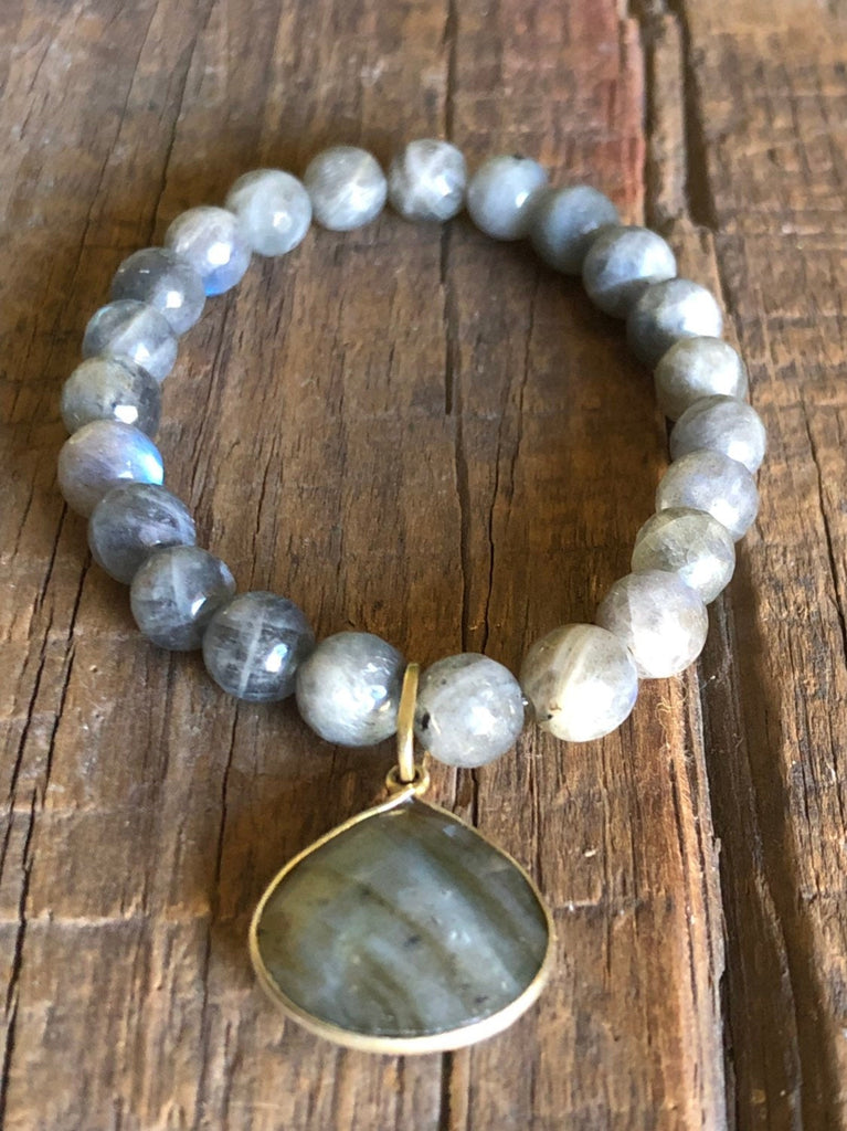 Labradorite Pendant and Gemstone Bracelet