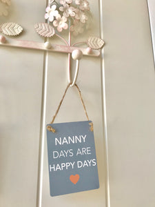 Mini Metal Plaque ... Nanny