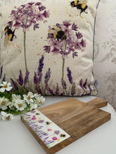 Load image into Gallery viewer, Bee lavender Chopping Board