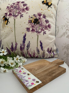 Bee lavender Chopping Board