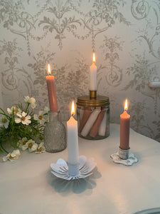 Embossed Glass Candle Holder