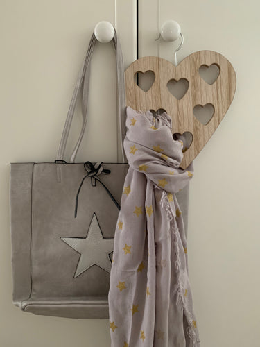 Scarf .... Grey with gold star detail