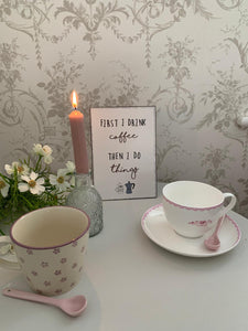 Ditsy Rose Bone China Cup and saucer Set