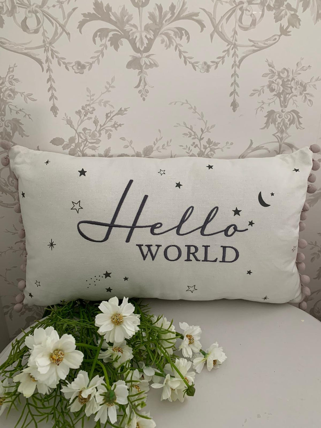 Hello world cushion