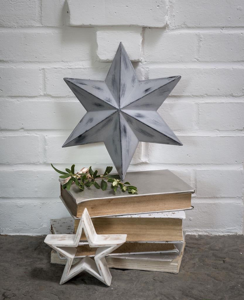 Distressed Grey Wall Barn Star