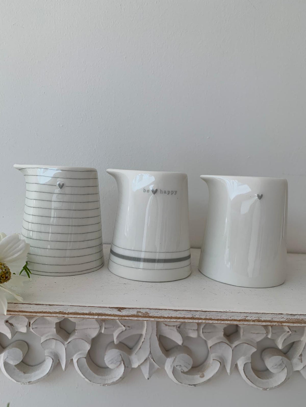 Grey Heart Milk Jug ... 3 designs