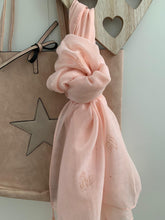 Load image into Gallery viewer, Scarf .... Pink with Rose gold heart detail