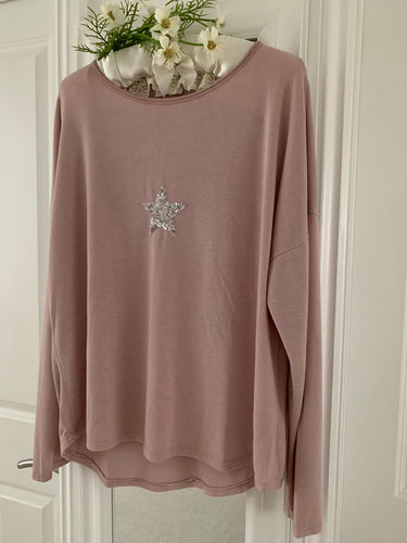 Fashion ... Sequin Star Dusty Pink ... Top