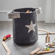 Load image into Gallery viewer, Fairtrade grey Star basket