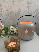 Load image into Gallery viewer, Ceramic Star Lantern ... neutral pearlescent