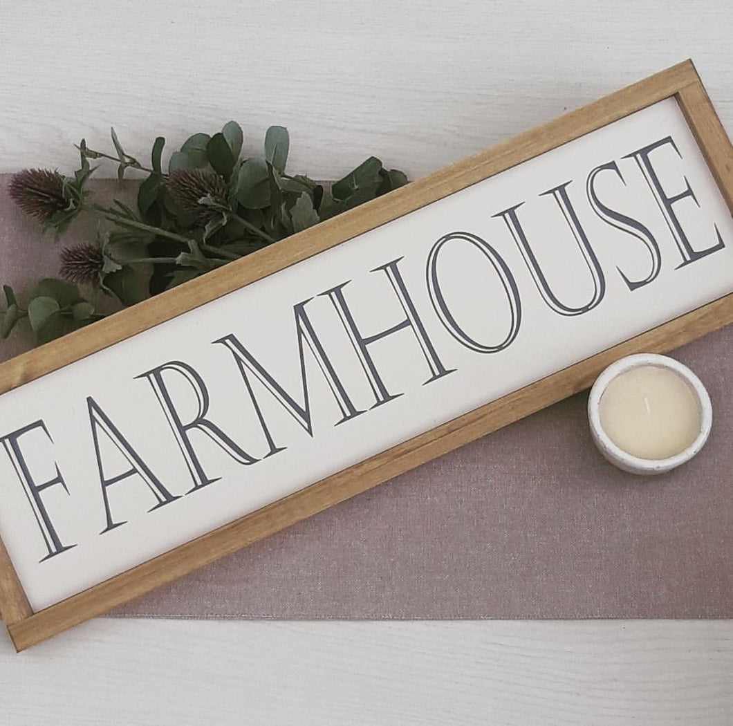 Farmhouse Rustic Sign