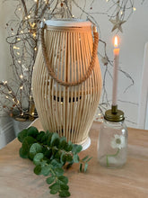 Load image into Gallery viewer, Boho Bamboo Wood Lantern