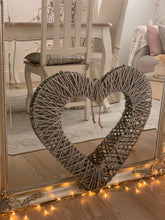 Load image into Gallery viewer, Woven wicker heart ... 2 sizes