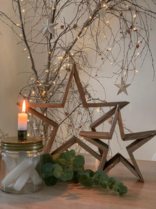 Natural wooden Stars ... 2 sizes
