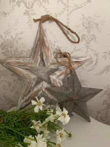 Lucky Barn Star, Grey Washed