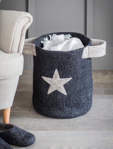 Fairtrade grey Star basket