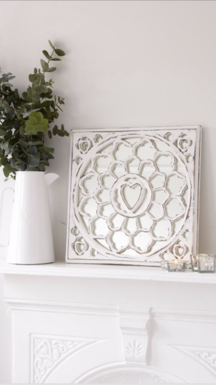 Carved Mirror Panel ... White
