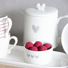 Load image into Gallery viewer, Grey Heart Large Teapot