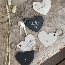 Load image into Gallery viewer, Heart Keyrings ... 8 Designs