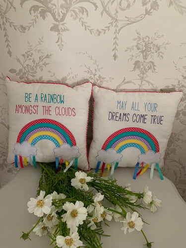 Rainbow Filled  Cushions ... 2 Designs ... ** NHS Donation **