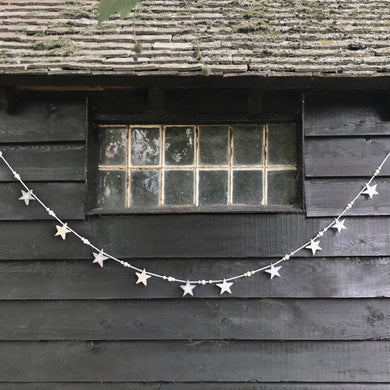 Wooden bunting ... Star & beads