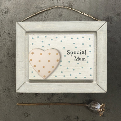 Special mum spotty hanging plaque ... Mothers Day