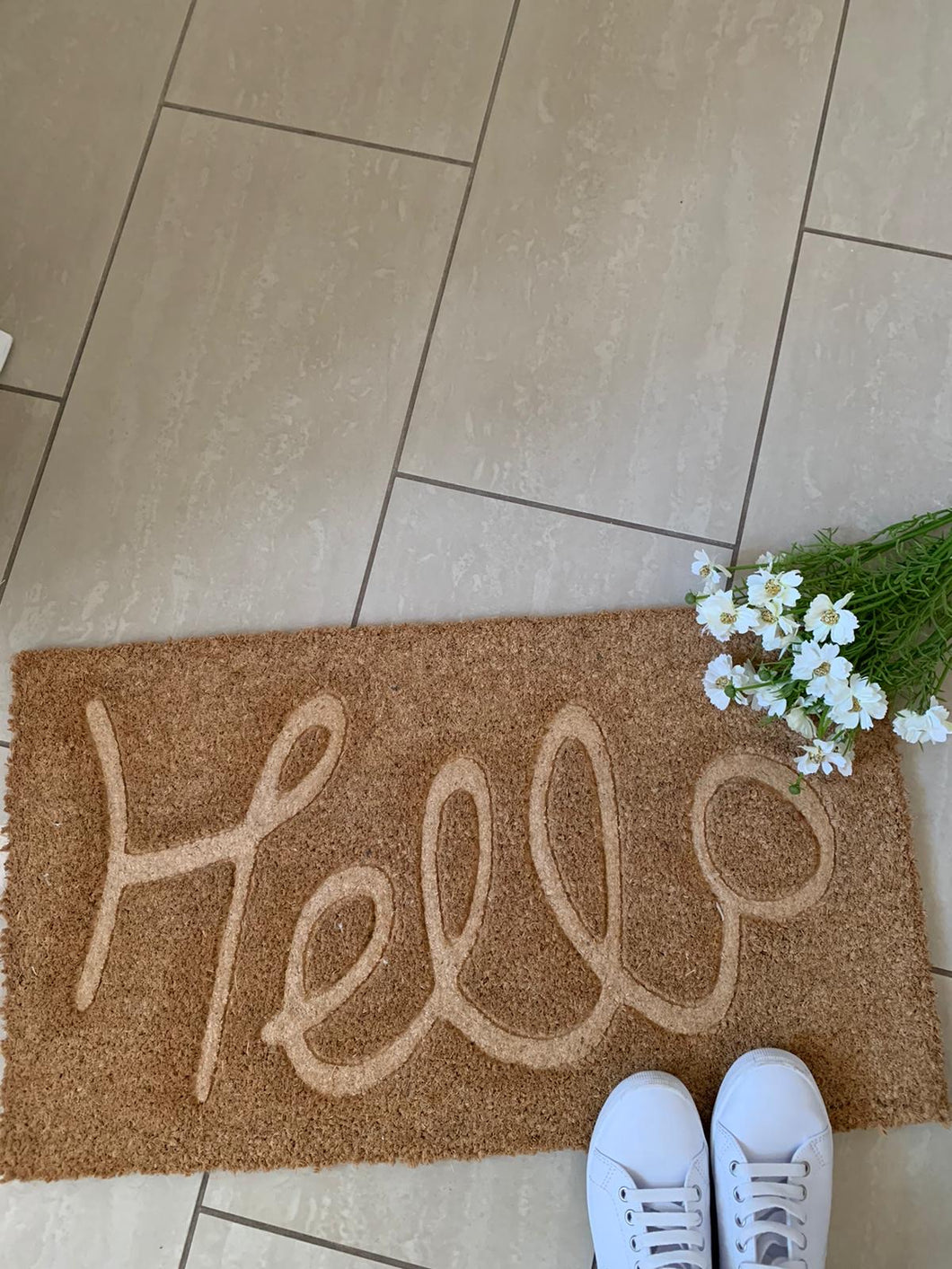 Door Mat - Large ...  Hello Embossed
