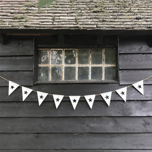 Wooden bunting ... flags with star cut out