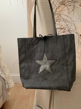 Load image into Gallery viewer, Star Tote bag ... Pewter / Dark Grey
