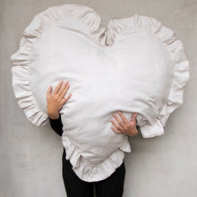 Load image into Gallery viewer, Frill Heart XL Cushion