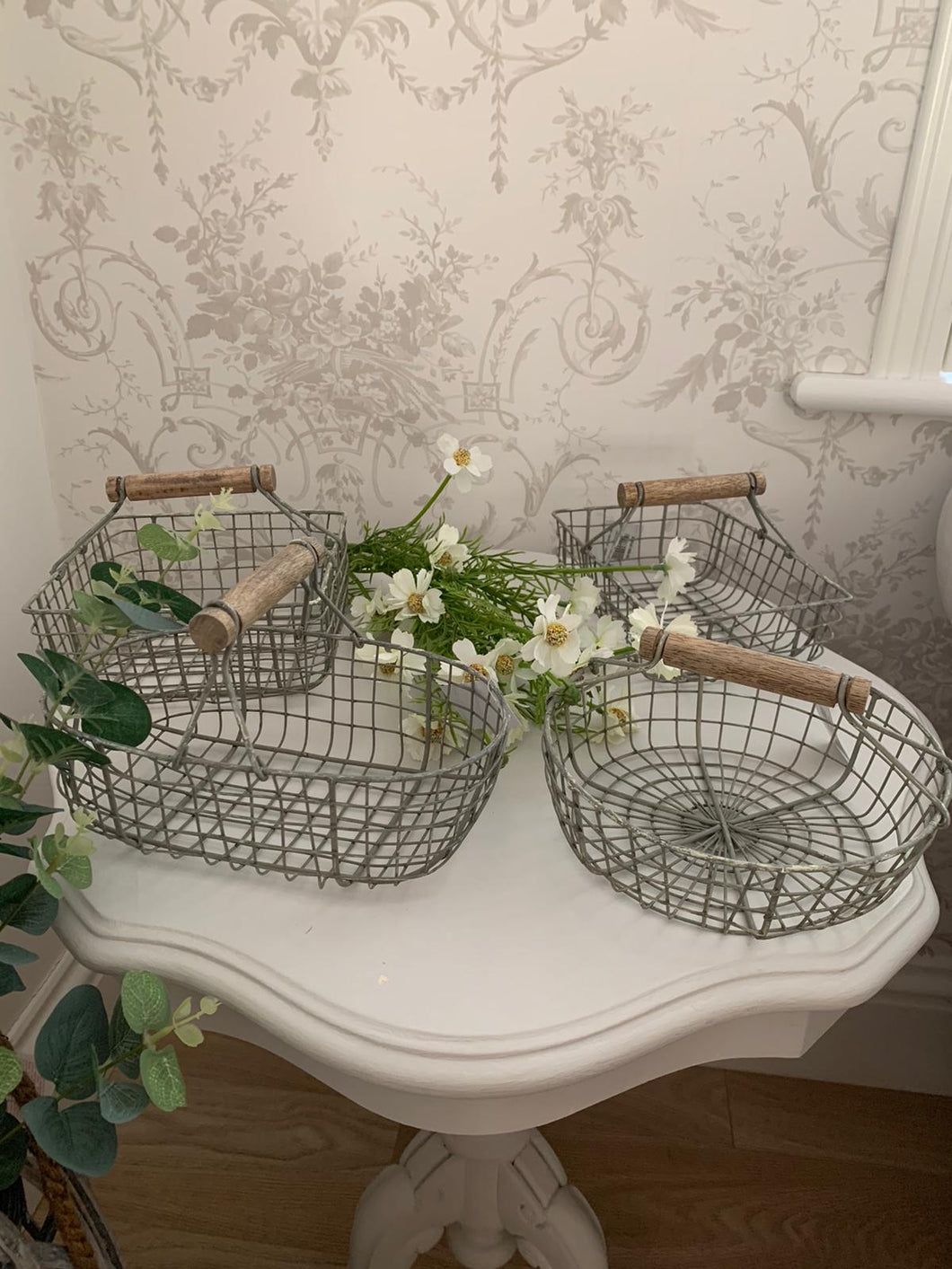 Grey wired baskets ... 4 styles