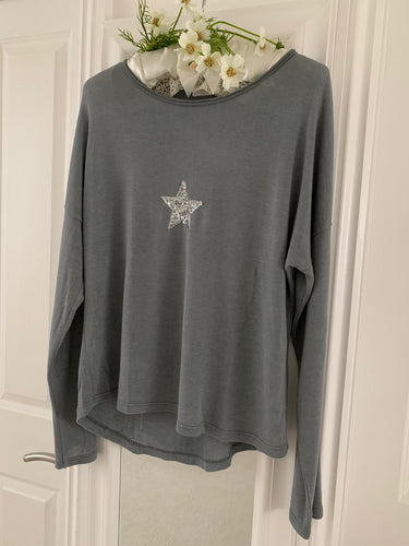 Fashion ... Sequin Star Grey ... Top