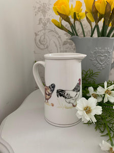 Country Chicken China Jug