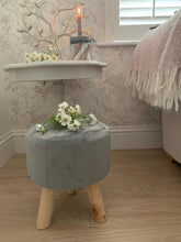 Load image into Gallery viewer, Button Velvet Stool ... Grey
