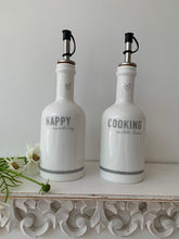 Load image into Gallery viewer, Grey Heart Happy Cooking Bottles .... Set of 2