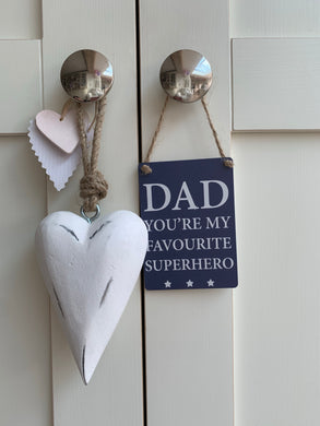 Mini Metal Plaque ... Dad Superhero