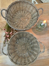 Load image into Gallery viewer, Wicker bowl basket ... set of 2