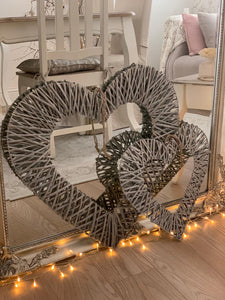 Woven wicker heart ... 2 sizes