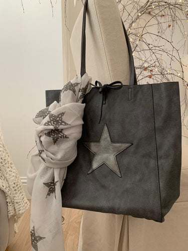 Star Tote bag ... Pewter / Dark Grey