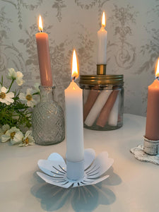 Floral Wide Open Flower Candle Holder