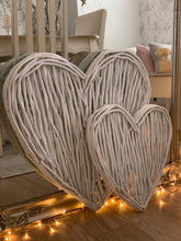 Load image into Gallery viewer, White wicker Twig  Heart ... Large 60cm