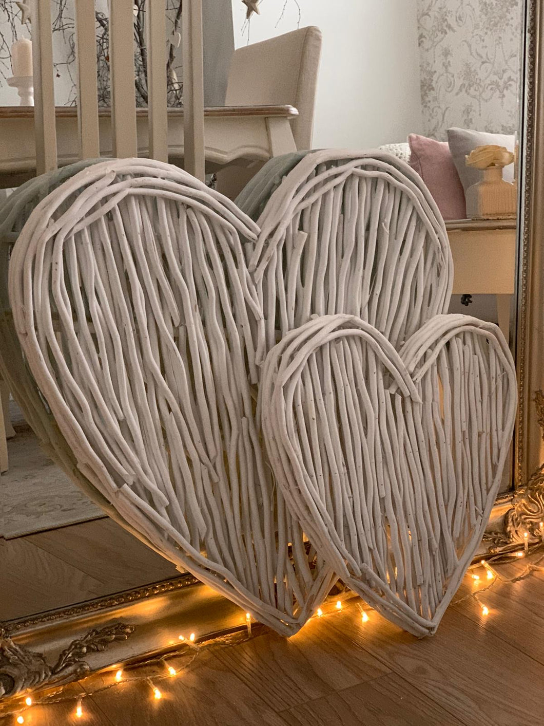White wicker Twig  Heart ... Large 60cm